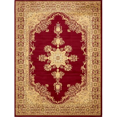 Onsted Red/Beige Area Rug Rug Size: Rectangle 10' x 13'