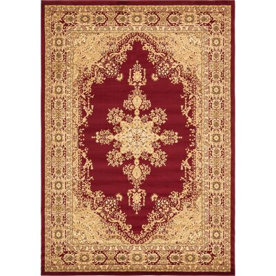 Britannia Red/Beige Area Rug Rug Size: Rectangle 8 x 114