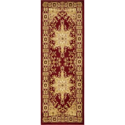 Onsted Red/Beige Area Rug Rug Size: Runner 2'2