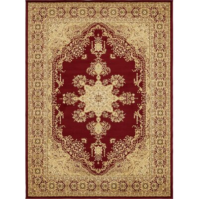 Britannia Red/Beige Area Rug Rug Size: Rectangle 9 x 12