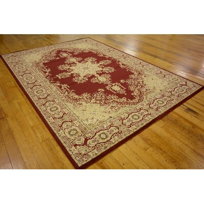Britannia Red/Beige Area Rug Rug Size: Rectangle 5 x 8