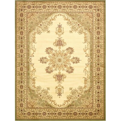 Mullen Beige/Green Area Rug Rug Size: Rectangle 10 x 13