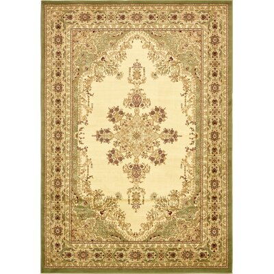 Mullen Beige/Green Area Rug Rug Size: Rectangle 8 x 114