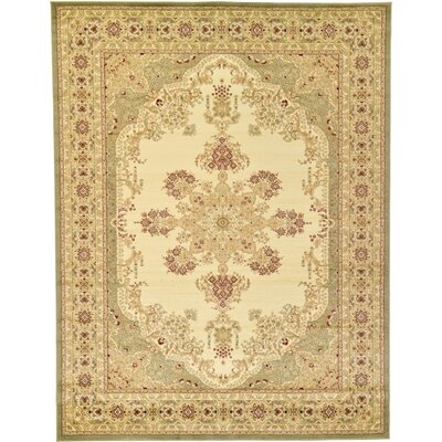 Britannia Beige/Green Area Rug Rug Size: Rectangle 9 x 12