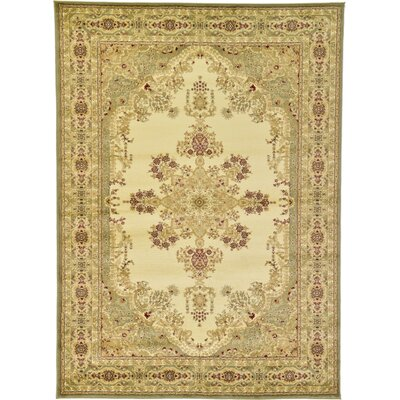 Britannia Beige/Green Area Rug Rug Size: Rectangle 7 x 10