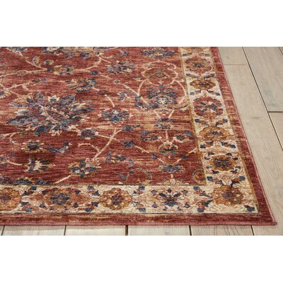 Westbrook Brick Area Rug Rug Size: Rectangle 53 x 76