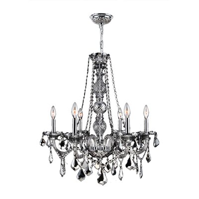 Doggett 6-Light Chain Crystal Chandelier Crystal Color: Chrome