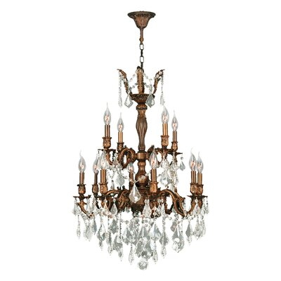 Dodson 12-Light Crystal Chandelier