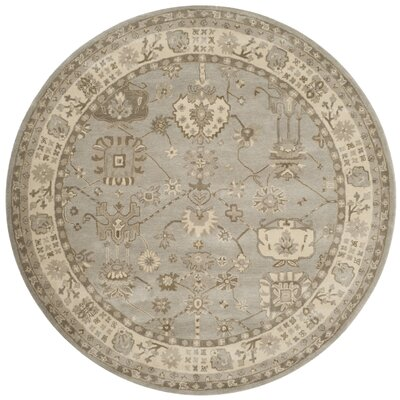 Colliers Hand-Tufted Silver/Cream Area Rug Rug Size: Round 7 x 7