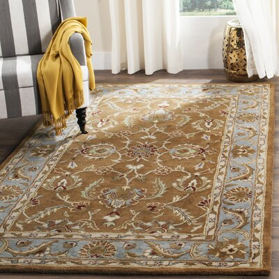 Taylor Brown & Blue Tufted Wool Area Rug Rug Size: Rectangle 76 x 96