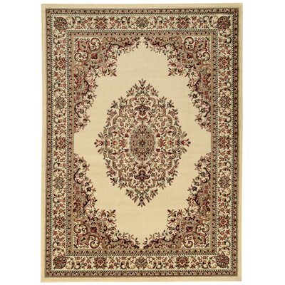 Arradale Medallion Ivory Area Rug Rug Size: Rectangle 79 x 11