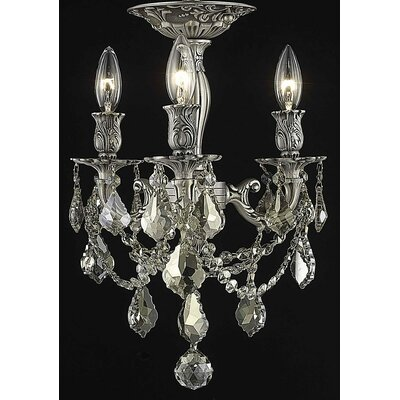 Reading 3-Light Candle-Style Chandelier Crystal Color / Crystal Grade: Golden Teak (Smoky) / Royal Cut