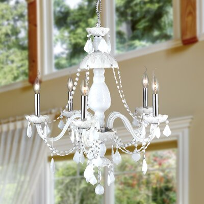 Doggett Traditional 5-Light Crystal Chandelier Crystal Color: White