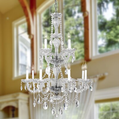 Doggett 12-Light Crystal Chandelier Finish: Chrome
