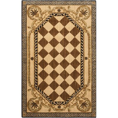 Barras Wool Brown/Beige Area Rug Rug Size: Rectangle 36 x 56