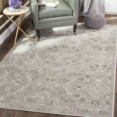 Attamore Silver Area Rug Rug Size: Rectangle 51 x 77