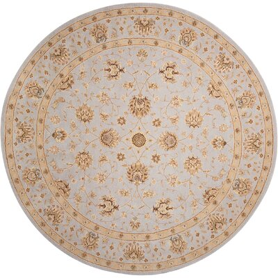 Lundeen Ivory/Light Blue Area Rug Rug Size: Round 9 x 9