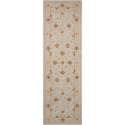 Lundeen Ivory/Light Blue Area Rug Rug Size: Runner 26 x 8