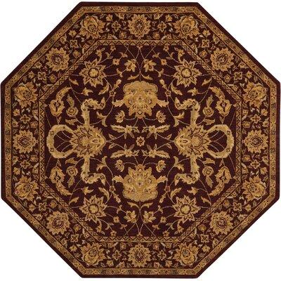 Bascom Aubergine Area Rug Rug Size: Octagon 8