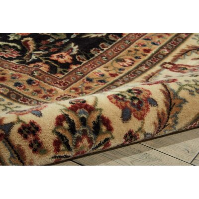 Bayhills Black/Brown Area Rug Rug Size: Rectangle 53 x 75