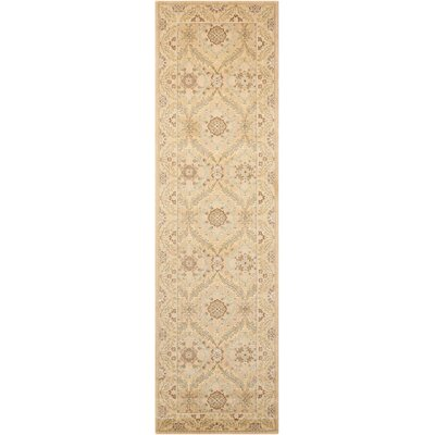Stonekeep Light Gold Area Rug Rug Size: Runner 23 x 8