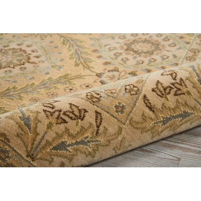 Stonekeep Light Gold Area Rug Rug Size: Rectangle 36 x 56