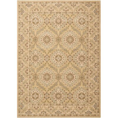 Stonekeep Light Gold Area Rug Rug Size: Rectangle 53 x 75