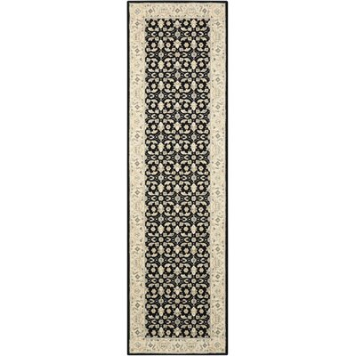 Carmorn Black Area Rug Rug Size: Runner 23 x 8