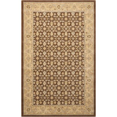 Carmorn Chocolate Area Rug Rug Size: Rectangle 36 x 56