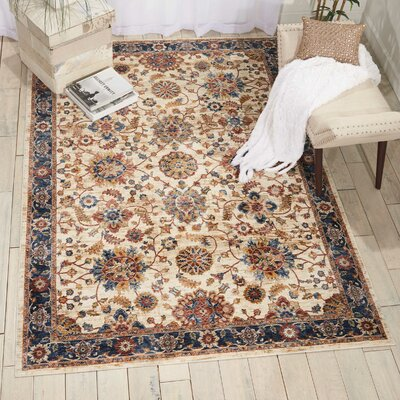 Westbrook Cream Area Rug Rug Size: Rectangle 710 x 910