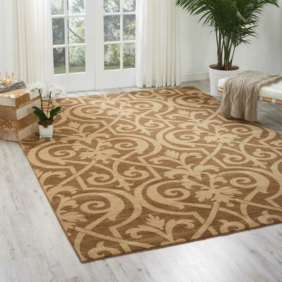 Castanada Mocha Area Rug Rug Size: Rectangle 36 x 56