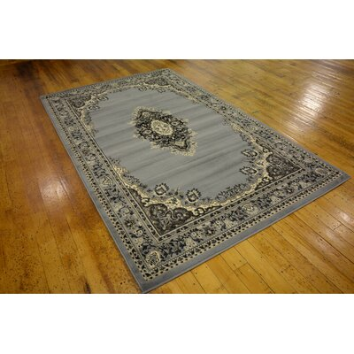 Britain Gray Area Rug Rug Size: Rectangle 5 x 8
