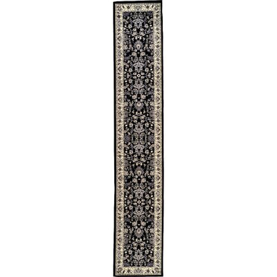 Essehoul Black Area Rug Rug Size: Runner 22 x 82