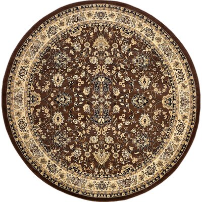 Concord Brown Area Rug Rug Size: Round 8