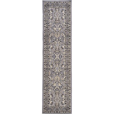 Essehoul Gray Area Rug Rug Size: Runner 27 x 10