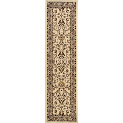 Essehoul Ivory Area Rug Rug Size: Runner 22 x 82
