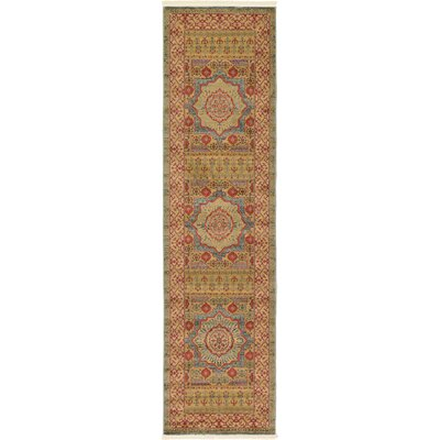 Laurelwood Yellow/Red Area Rug Rug Size: Runner 27 x 10