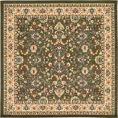 Essehoul Green Area Rug Rug Size: Square 8