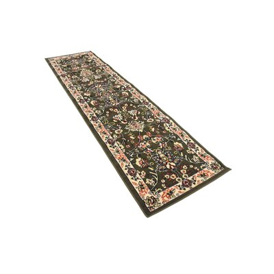 Essehoul Green Area Rug Rug Size: Runner 27 x 10