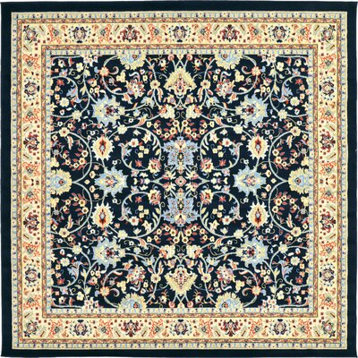 Concord Navy Blue Area Rug Rug Size: Square 8