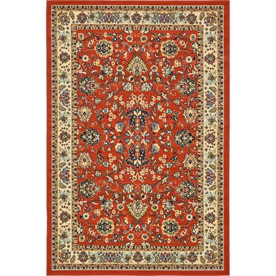 Essehoul Terracotta Area Rug Rug Size: Rectangle 7 x 10