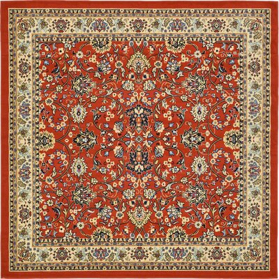 Essehoul Terracotta Area Rug Rug Size: Square 8