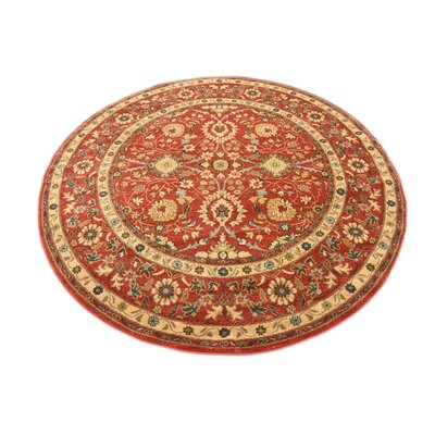 Willow Red Indoor Area Rug Rug Size: Round 6