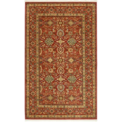 Willow Red Indoor Area Rug Rug Size: Rectangle 5 x 8
