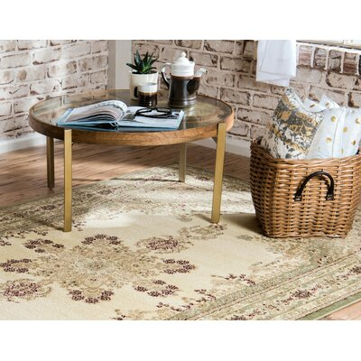 Mullen Beige/Green Area Rug Rug Size: Rectangle 5 x 8