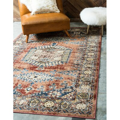 Nathanson Terracotta Area Rug Rug Size: Rectangle 9 x 12