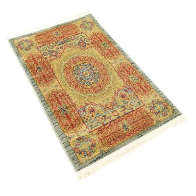 Laurelwood Red/Beige Area Rug Rug Size: Rectangle 33 x 53