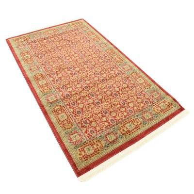 Laurelwood Red Area Rug Rug Size: Rectangle 3'3