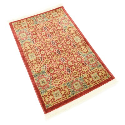 Laurelwood Red Area Rug Rug Size: Rectangle 2' x 3'