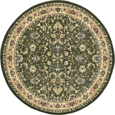 Essehoul Green Area Rug Rug Size: Round 8
